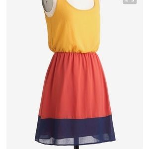 Modcloth Colorblock Dress Sz S